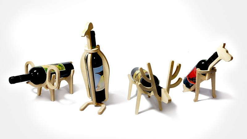Illustration for article titled These Adorable Animal Wine Racks Will Make Getting Drunk Feel So Cute