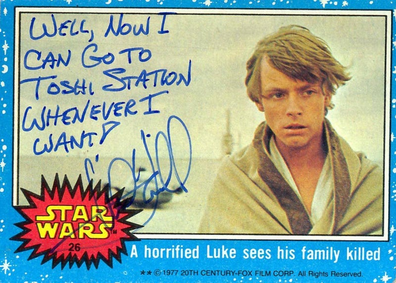 Illustration for article titled Mark Hamill's Autographs Are The Best