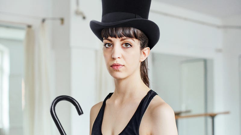Illustration for article titled Totally Embarrassing: This Woman Forgot To Bring Her Monocle To Her Tap Class, And Now She Looks Like A Fool With Just Her Top Hat And Cane