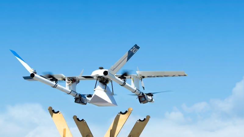 """Illustration for article titled Los drones de reparto de Alphabet empezarán a volar en Finlandia: """"si funcionan aquí, lo harán en cualquier parte"""""""