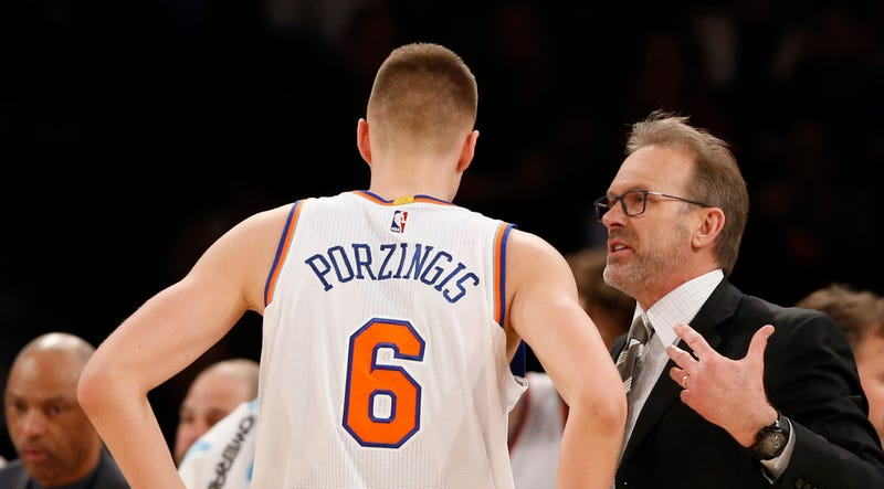 Illustration for article titled Someone Please Save Kristaps Porzingis From Kurt Rambis