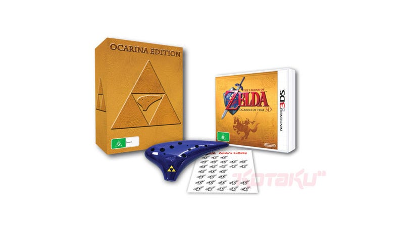 Illustration for article titled This Version of Ocarina Of Time Comes With an Actual Ocarina