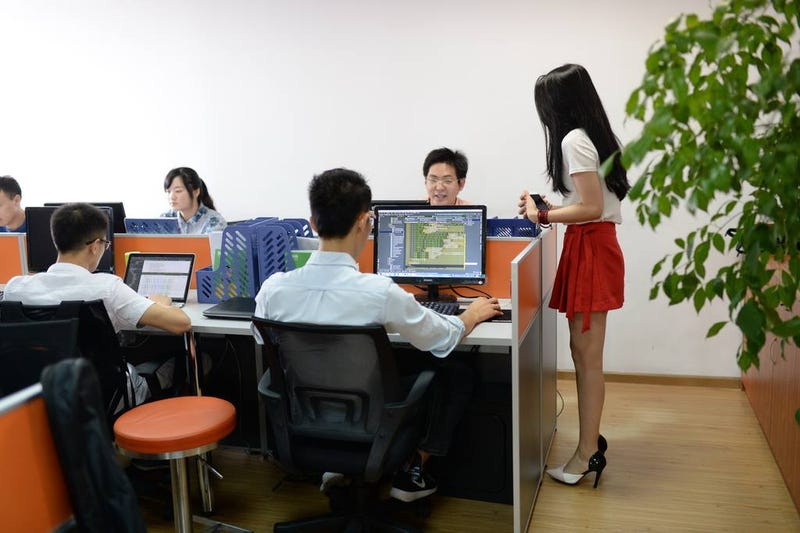 Illustration for article titled In China, Women Hired To Motivate Computer Programmers