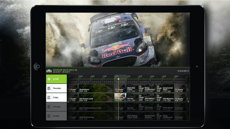 Screencap of the new WRC app. Image credit: WRC
