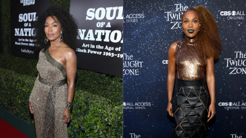 (L-R): Angela Bassett attends The Broad Museum celebration for the opening of Soul Of A Nation: Art in the Age of Black Power 1963-1983 Art Exhibition on March 22, 2019 in Los Angeles, California. DeWanda Wise attends CBS All Access new series 'The Twilight Zone' premiere on March 26, 2019 in Hollywood, California.
