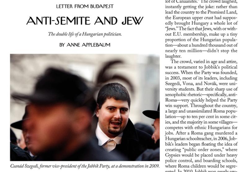 Illustration for article titled Szegény, szegény Szegedi Csanád - a New Yorker-portré