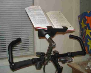 Diy Handlebar Bookstand Marries Your Workout With Learning