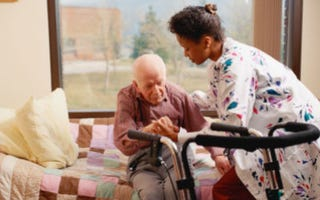 This job takes compassion, and some physical strength. (Stockbyte)