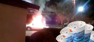 Illustration for article titled Florida Woman Sets Car On Fire Over McFlurry, Onlookers Claim