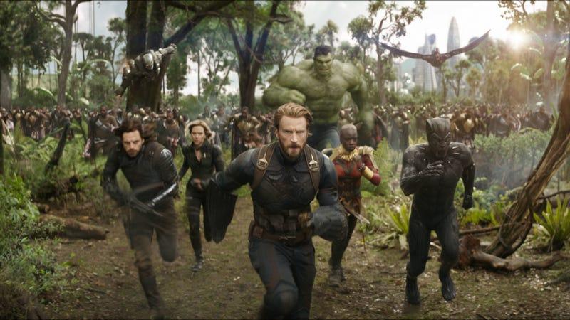 The Avengers fight on Wakanda in Avengers: Infinity War.