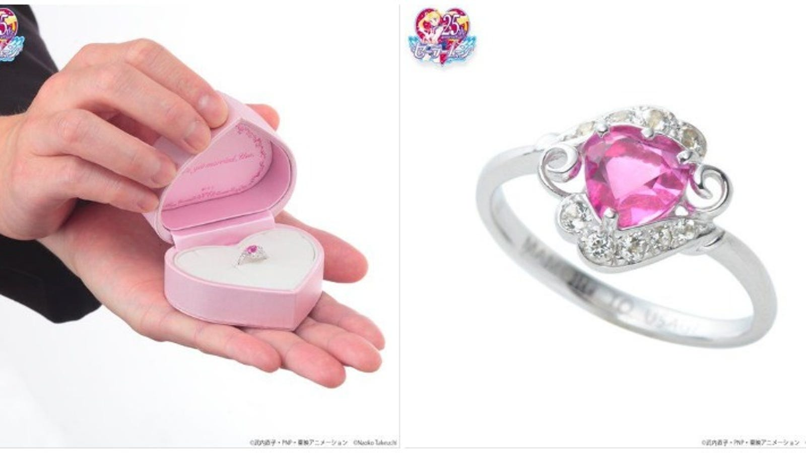 Sailor Moon Wedding Ring Only $1,486