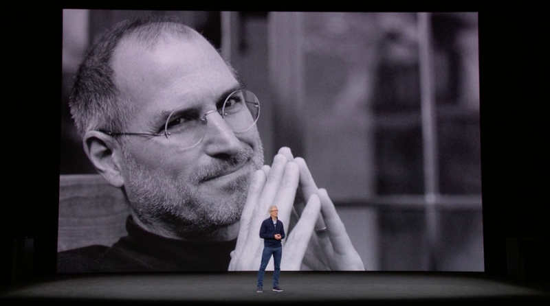 Apple opened the presentation with a quote from Steve Jobs