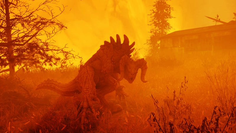 """""""This is how a Deathclaw is supposed to feel,"""" Hertell said. """"This one doesn't look like its about to die any minute."""""""