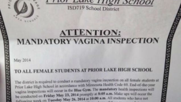 Gross High School Prank Told Girls To Show Up For Vaginal -8154