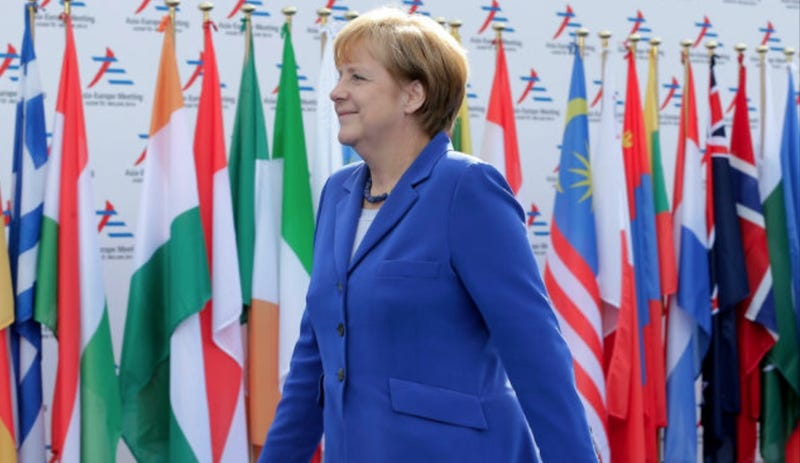 Illustration for article titled Angela Merkel Cancels Meeting With Vladimir Putin Because He Was Late