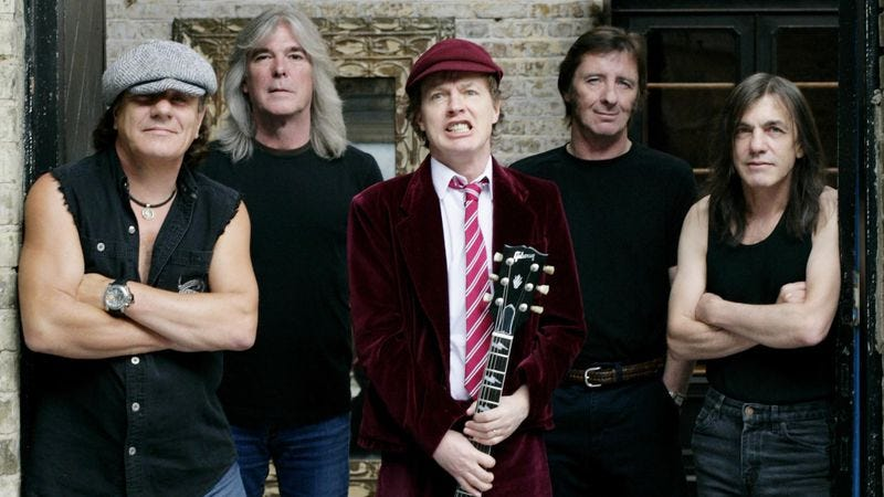 Illustration for article titled This supercut proves all AC/DC songs end pretty much the same way