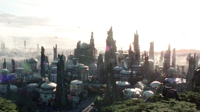 A new look at the upcoming Star Wars section of Disney theme parks.