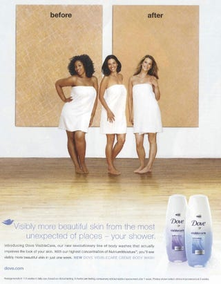 Illustration for article titled Is This Dove Ad Racist?