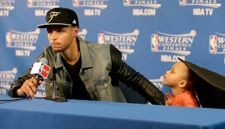 Illustration for article titled Riley Curry's Mom Responds to Her Baby's Haters, Says You'll Deal