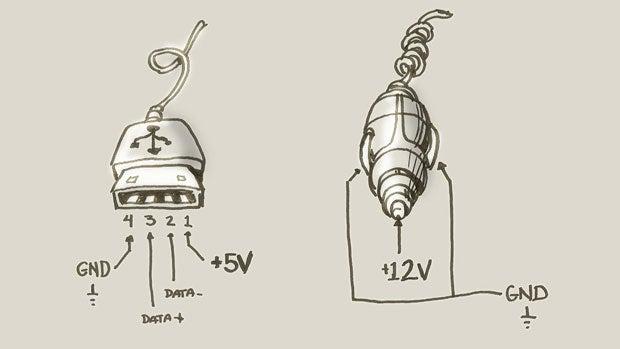 how to make a quick and dirty emergency usb to cigarette lighter socket rh jalopnik com 12V Cigarette Lighter Plug Wiring Car Cigarette Lighter Wire Schematics