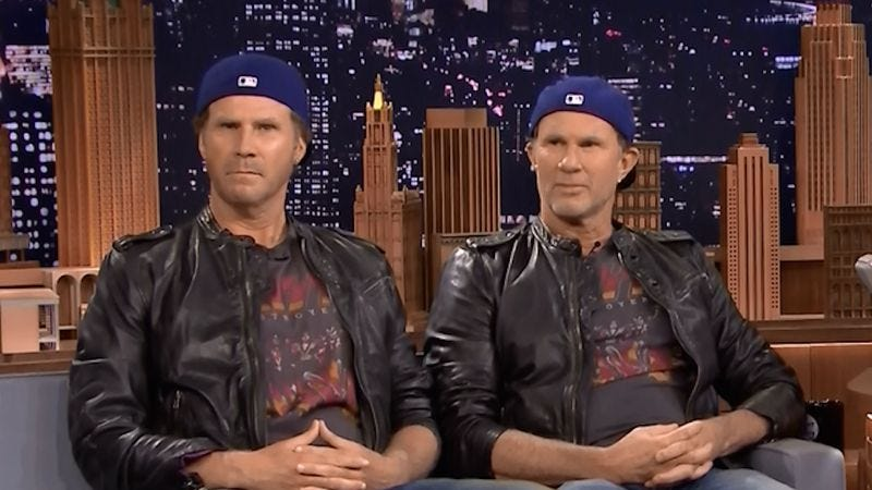 Illustration for article titled Will Ferrell and Chad Smith challenge Lars Ulrich to drum-off