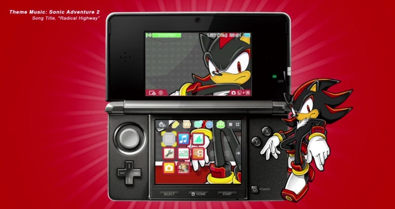 Illustration for article titled Shadow The Hedgehog Theme Available For 3DS