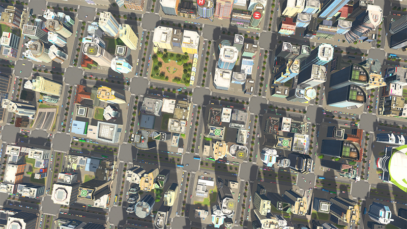 A screenshot of Cities: Skylines. It's a screenshot. Not a proposal for a town.