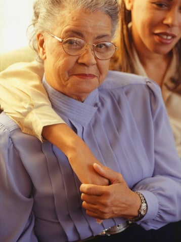 Long-term senior care straining families (Thinkstock)