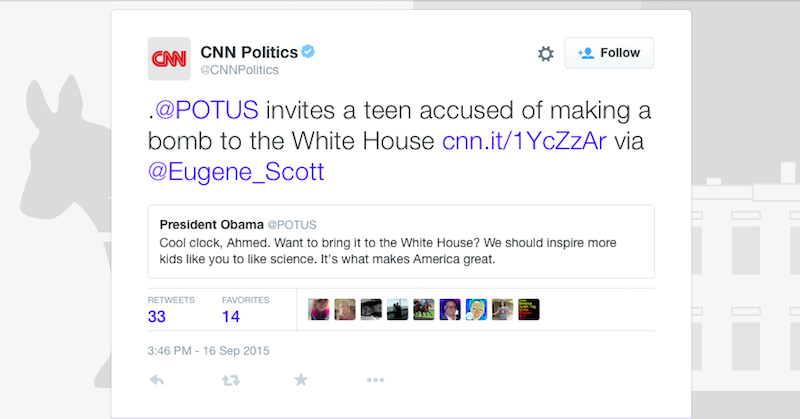 Illustration for article titled CNN Has an Interesting Take on the Arrest of a 14-Year-Old Clockmaking Boy