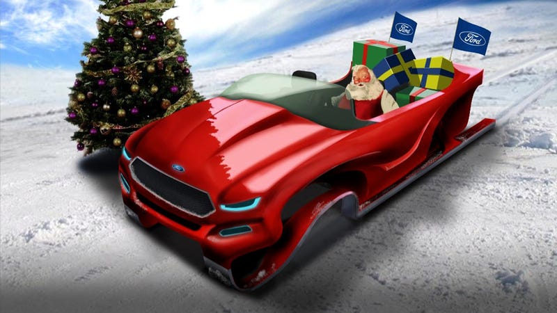 Illustration for article titled Ford to put reindeer out of work with 'green' Santa sleigh