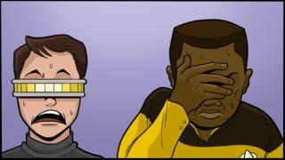 Illustration for article titled What Star Trek really looks like through Geordi's visor
