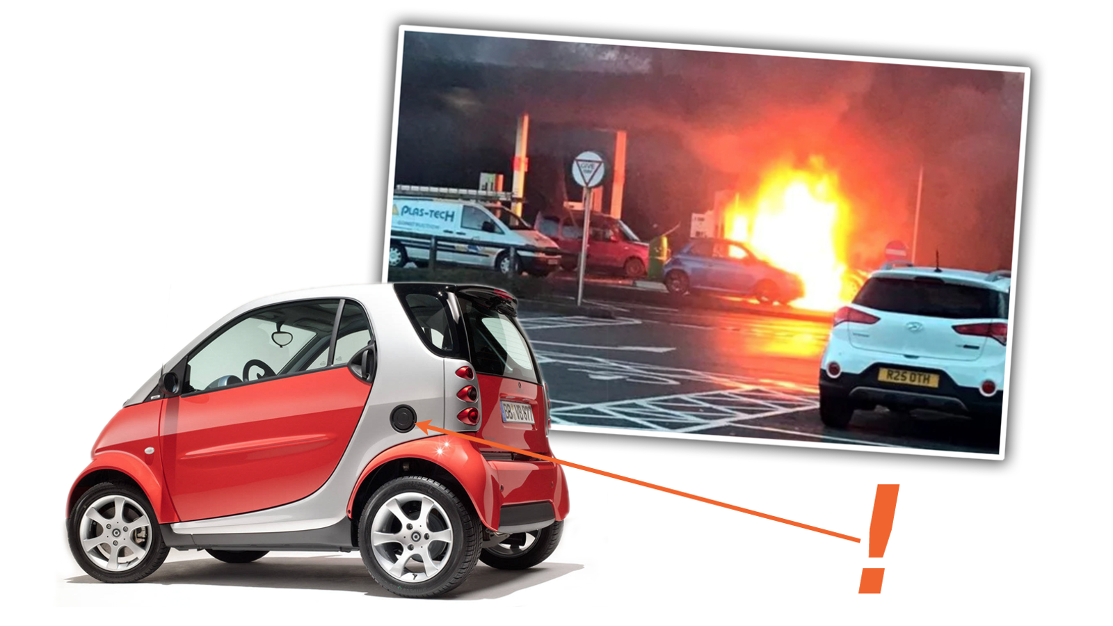 Smart Car Explodes When Driver Fills Wrong Hole With Gas