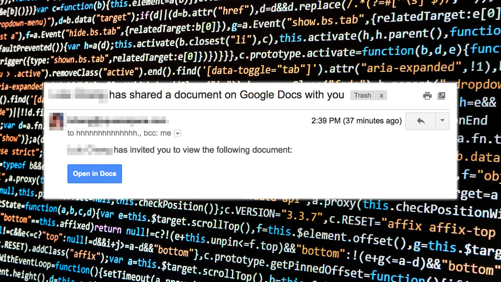 A Dangerously Convincing Google Docs Phishing Scam Is Spreading Like
