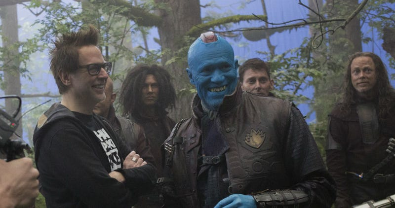 James Gunn and Michael Rooker on the set of Guardians of the Galaxy Vol. 2. Image: Disney