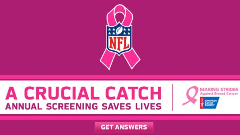 Illustration for article titled How the NFL's Breast Cancer Awareness Campaign Lies to Women