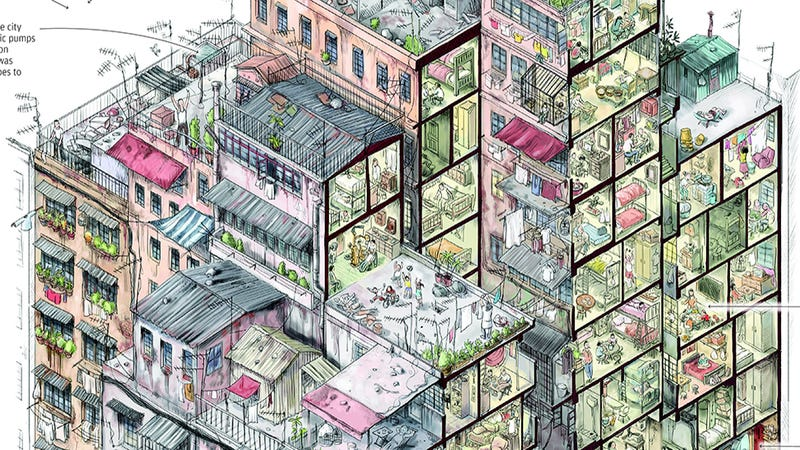 Illustration for article titled Kowloon Walled City: Remembering Hong Kong's Chaotic City of Darkness