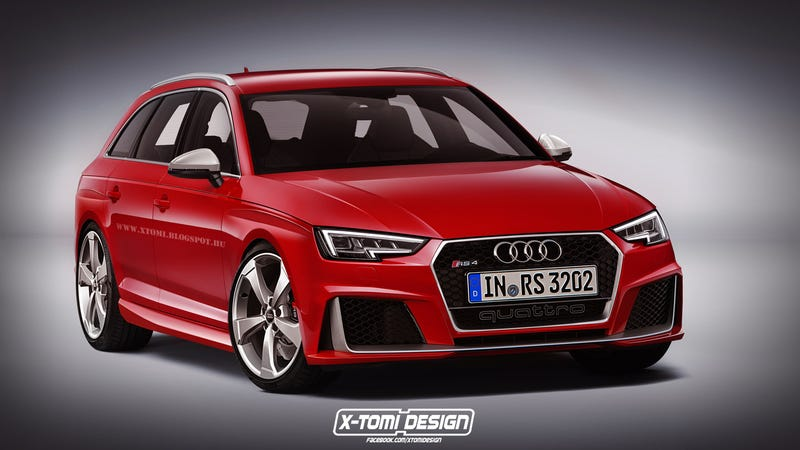 Illustration for article titled With the new A4 face, will the RS4 look like this?