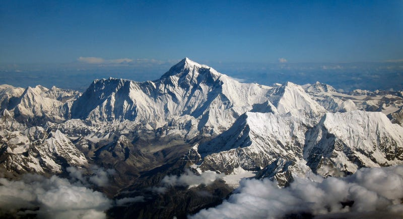 Aerial view of Mount Everest