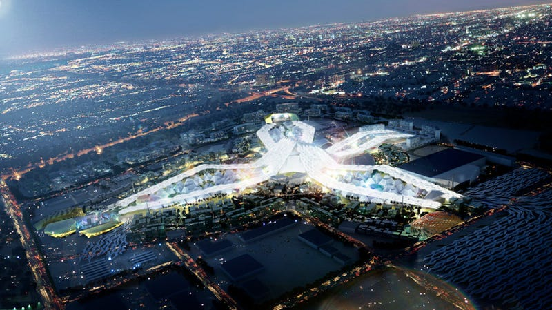 Illustration for article titled Dubai's $7 Billion Expo 2020 Could Become a Glittering White Whale