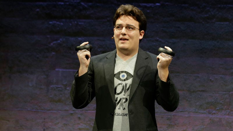 Palmer Luckey doesn't work for Facebook anymore