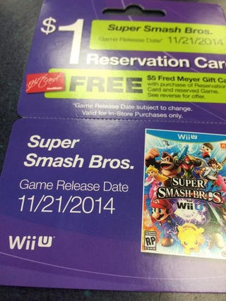 Illustration for article titled Smash Bros Wii-U release Date leak!?