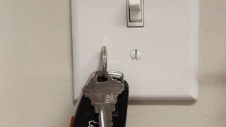 Instead Of Hanging Some Hooks By Your Front Door To Hold Your Keys, You Can  Stick Them To Your Light Switch Plate With A Tiny, Cheap Magnet.