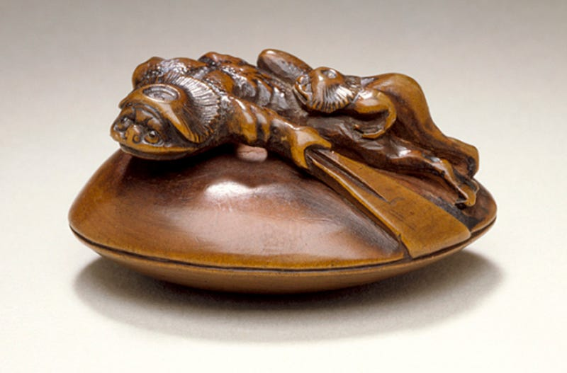 Illustration for article titled Spirit Foxes and Raunchy Demons in Japanese Netsuke  Art