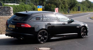 Illustration for article titled Carscoops has Spy Shots of the Jag XFR-S Sportbrake