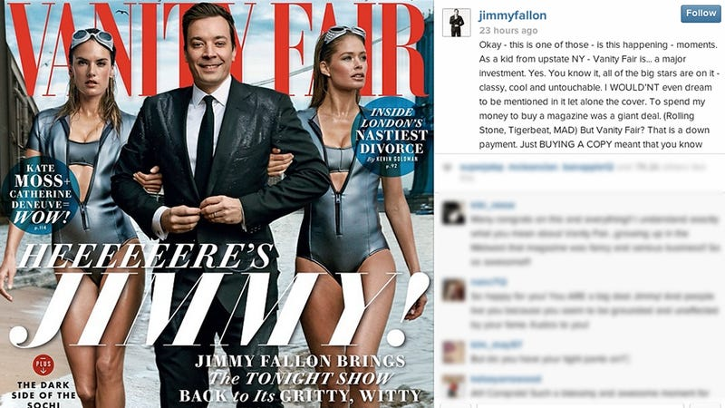 Illustration for article titled This Message From Jimmy Fallon About His Vanity Fair Cover Is All That