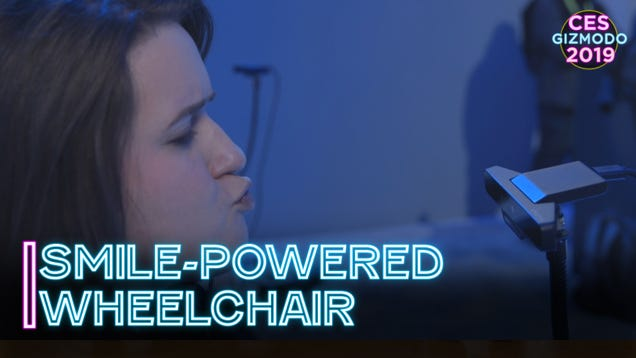 This Wheelchair Is Controlled With Smiles and Kissy Faces