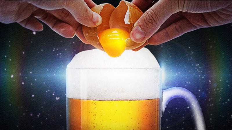 Illustration for article titled Beer flips are the beer-and-whole egg cocktail—wait, hear me out