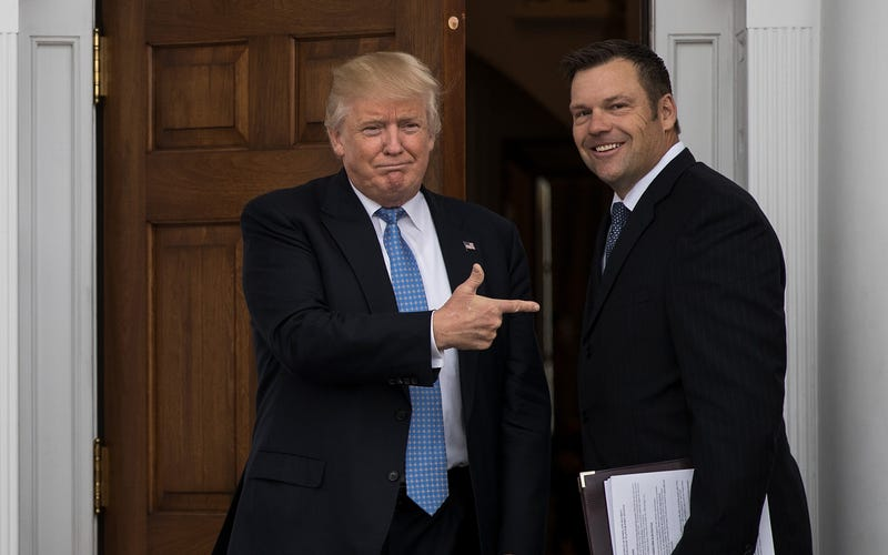 Donald Trump and Kris Kobach (Drew Angerer/Getty Images)