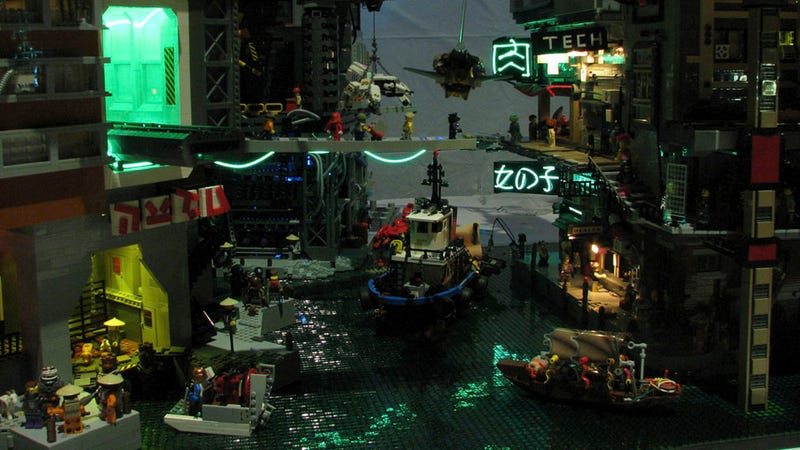 Illustration for article titled Esta ciudad de Lego es digna de Blade Runner