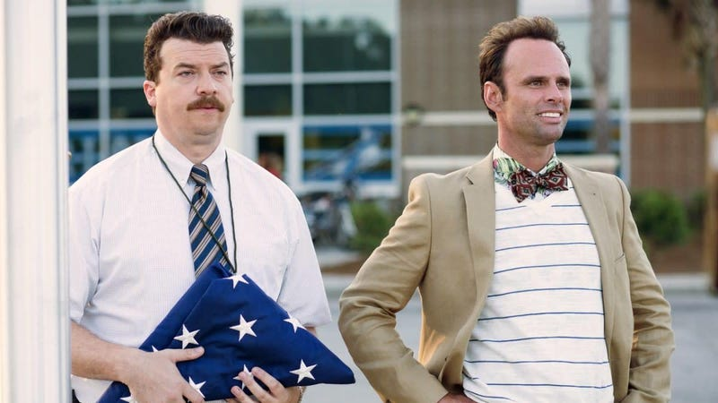 Walton Goggins reuniting with Danny McBride for The Righteous Gemstones, as evidenced by this righteous photo